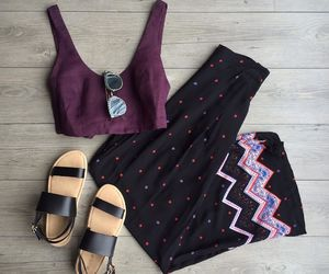 pants, trousers, and sandals image