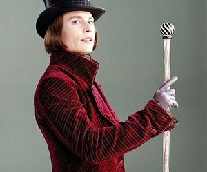 charlie and the chocolate factory, handsome, and deppwonka image
