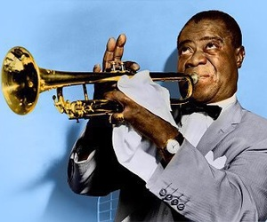 louis armstrong, jazz, and music image