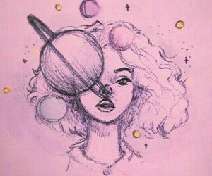 curly, girl, and universe image