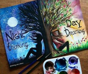 night, art, and drawing image