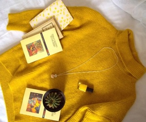 yellow, aesthetic, and sweater image