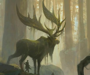 fantasy, art, and forest image