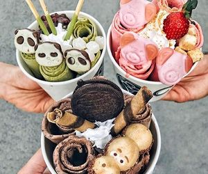 food, ice cream, and sweet image