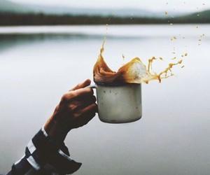 coffee, lake, and photography image
