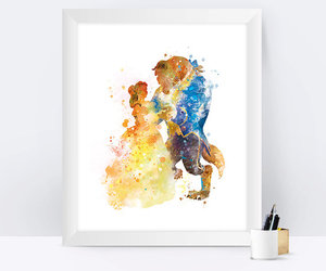 beast, beauty and the beast, and belle image