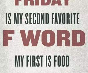 friday, funny, and word image