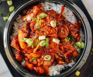 crispy, korean food, and rice image