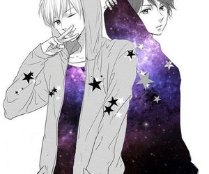 anime, galaxy, and boy image