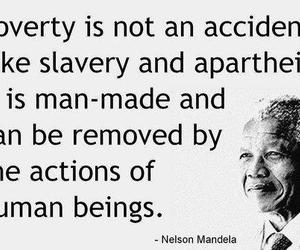 nelson mandela, poverty, and quote image