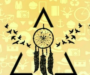birds, dreamcatcher, and triangle image