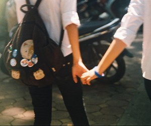 couple, hands, and vintage image