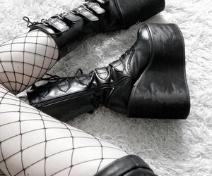 goth, gothic, and legs image