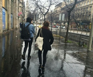 grunge, rain, and city image