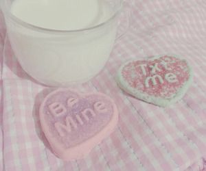 pink, Cookies, and hearts image