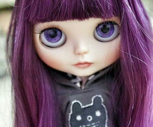 doll and purple image