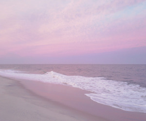 beach, beautiful, and pink image