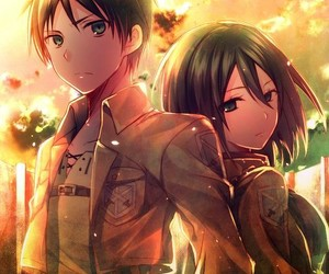 snk, mikasa, and aot image