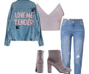 ankle boots, boots, and boyfriend jeans image