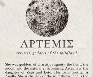artemis, aesthetic, and mythology image