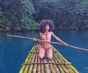 adventure, black women, and curly hair image