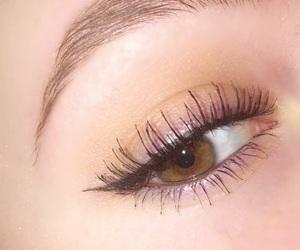 brown eyes, eye, and eyebrow image