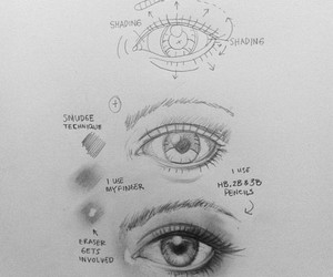 drawing and eye image