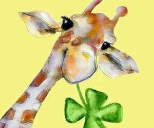clover, day, and giraffe image