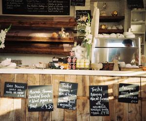 cafe, food, and vintage image