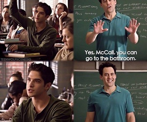 teen wolf, coach, and scott mccall image