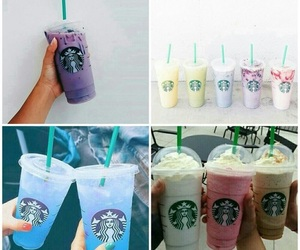 colourful, frappucino, and iced image