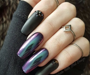 coffin, jewelry, and fake nails image