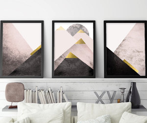 set of 3 prints, scandinavian print, and minimalist poster image