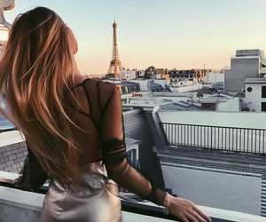 girl, paris, and hair image