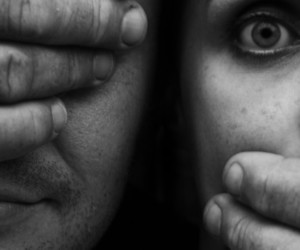 black and white, rape, and see no evil image