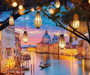 light, venice, and travel image