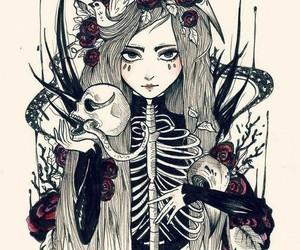 girl, art, and drawing image
