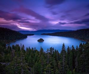 nature, purple, and lake image