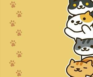 cat, neko atsume, and wallpaper image