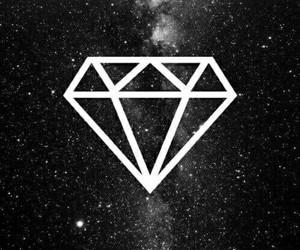 diamond, wallpaper, and black image