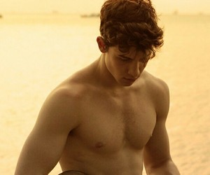 album, beach, and guy image