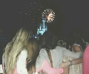 friends, fireworks, and disney image