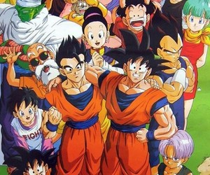 trunks, goku, and vegeta image