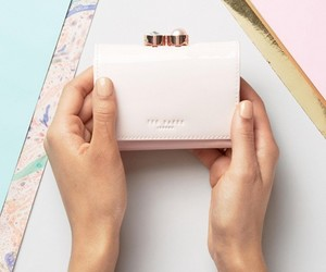 pink, wallet, and ted baker image