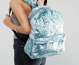 backpack, crybaby, and blue image
