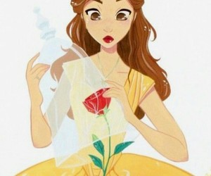 belle, disney, and beauty and the beast image