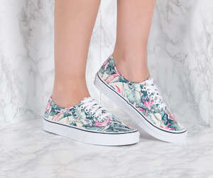 floral, multicolor, and shoes image