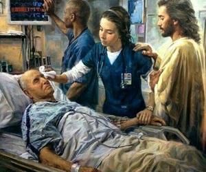 jesus and nurse image