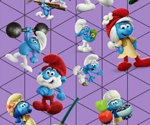 walpaper, smurfs, and smerfy image