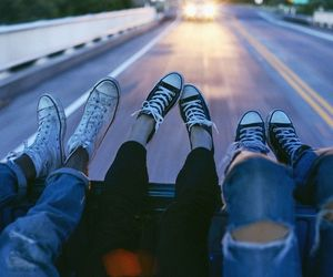 friends, converse, and grunge image